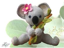 "koala girl ""Candy"" - crochet pattern PDF"