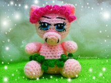 Crochet pattern of Mikka, the sweet pig PDF ternura amigurumi english- deutsch- dutch