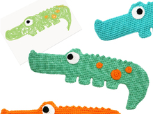 Crocodile - to cuddle and explore - Crochet Pattern