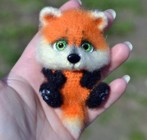 Raccoon and Fox Brooches