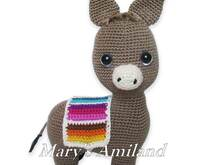 Laurence Donkey the Ami - Amigurumi Crochet Pattern