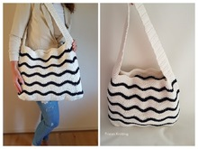 pattern crochet beach bag // pattern chevron stitch // beach style