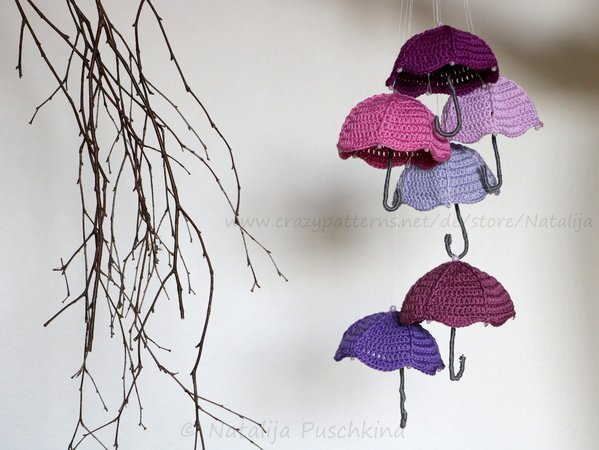 Autumn decoration 'Umbrella' - Crochet Pattern