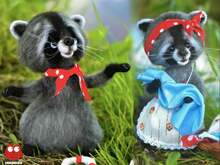 220 Crochet Pattern - Glasha the Raccoon with clothing - Amigurumi PDF file by Ogol CP