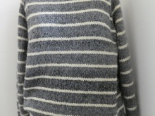 Greystone Womens Sweater, Raglan bottom up with stripes