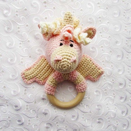 Crochet rattle unicorn pattern