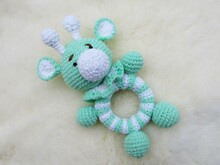 Crochet rattle giraffe