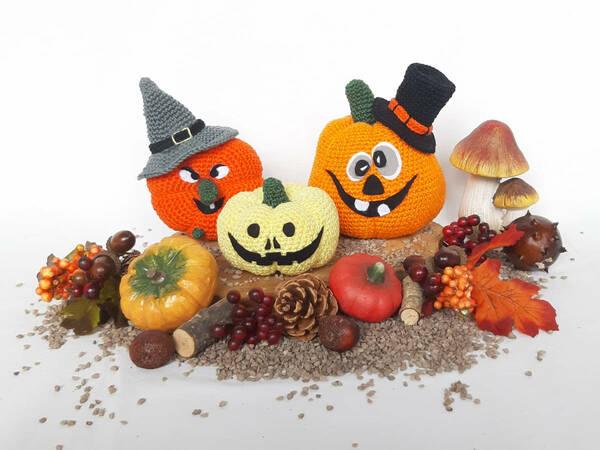 Halloween Pumpkins Crochet Pattern