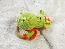 Crochet rattle hippo pattern