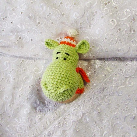 Amazon.com : Natural Crochet Teether Toy Rattle for Baby Forest ... | 450x450
