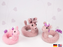 Swim Ring Unicorn/Alpaca • LuckyTwins • crochet pattern