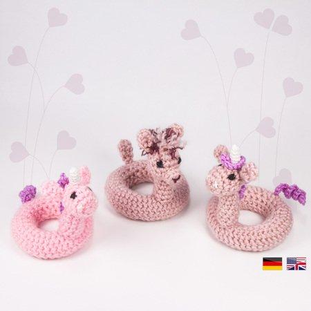 Amigurumi Unicorn Keychain Crochet Free Patterns - Crochet & Knitting | 450x450