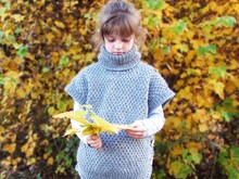 Knitted poncho pattern