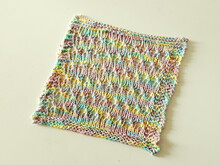 "Washcloth or dishcloth knitting pattern ""Foam Bath Cloth"""