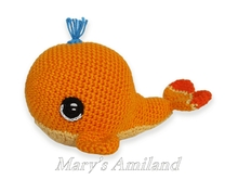 Noah Whale the Ami - Amigurumi crochet pattern