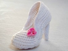 Crochet Pattern The Bridal Shoe