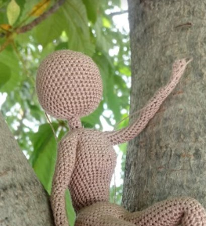Crochet Doll Body Bella - Amigurumi One Piece Doll - No Sewing ... | 450x409