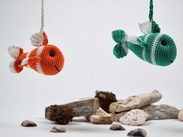 Crochet Pattern Key Ring/Bag Pendant Fish