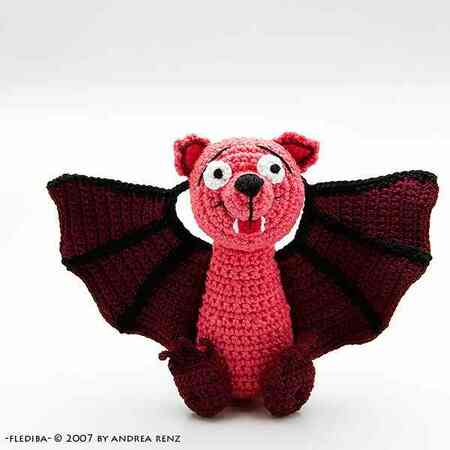 bat Flediba, PDF crochet pattern, animal, tutorial, ebook, amigurumi