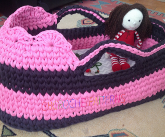 Crochet Moses Basket Pattern