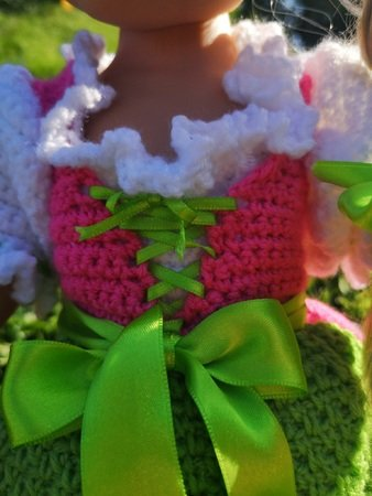 Dirndl Resi, Häkelanleitung für Puppenkleidung, Größe 30 ...