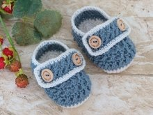 "Baby Shoes ""Henry"", 0-6 months – Crochet Pattern"