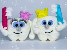 Cleany Clean Tooth - crochet pattern
