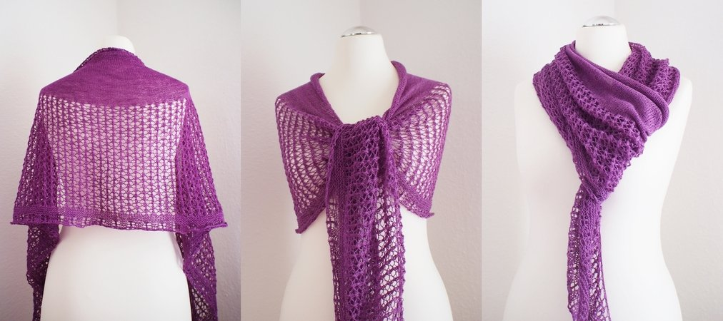 Bianca - Lace shawl for beginners