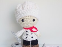 Chef Felton- Crochet Amigurumi Pattern PDF- English