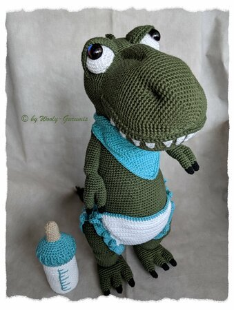 Häkelanleitung / Amigurumi / Max the friendly Baby T-Rex