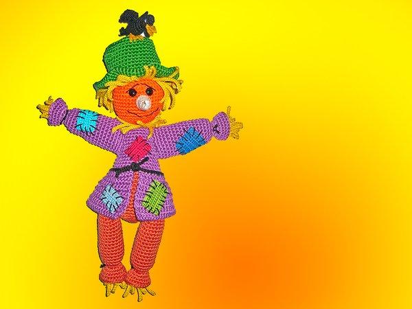 Free Crochet Amigurumi Scarecrow Cat and Crow Pattern | Crochet ... | 450x600