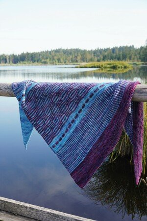 "Shawl ""Fjord Diver"", knitting pattern"