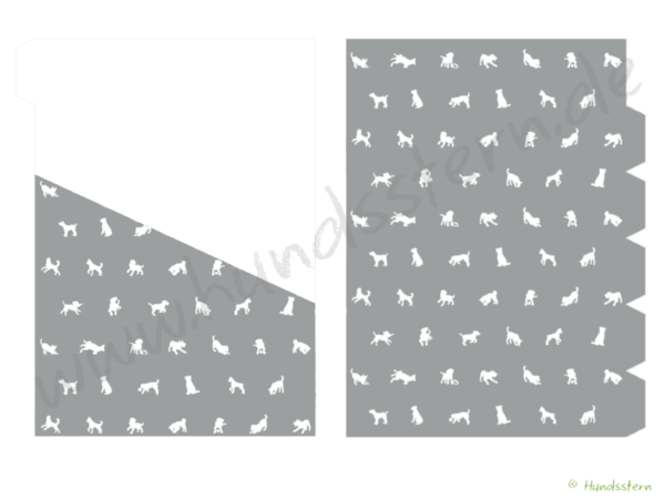 A5 Dividers Tabs w/ pockets Dogs platinum A5D21105n