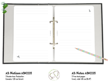 Notes A5 inserts ring planners Dogs Test A5N2235