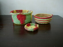 crocheting pattern basket set Akiba