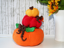 Pumpkin Stack - Doorstop or Fall Decoration - Crochet Pattern