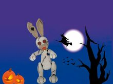 zombie horror bunny, PDF crochet pattern, animal, tutorial, ebook, amigurumi, halloween, crazy