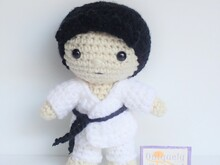 Felton in Karate Costume- Crochet Amigurumi Pattern PDF- English