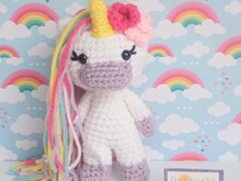 Radiant the Unicorn - Crochet Amigurumi PDF- English