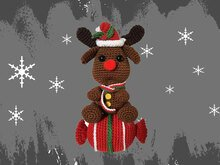 Reindeer - Candy Christmas decoration Pattern Amigurumi