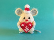 PDF Pattern Milky Mouse with Heart Ornament