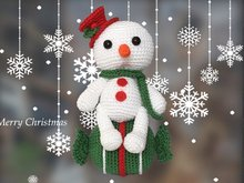Snowman - Candy Christmas decoration Pattern Amigurumi PDF Deutsch - English - Dutch