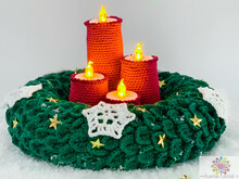 Decorative advent wreath - crochet pattern