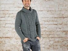 "Strickanleitung Herrenpullover ""Sporty"" 760042"