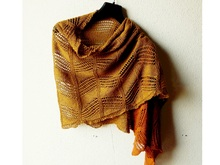 "Lace shawl knitting pattern ""Damian"""