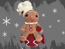 Gingerbreadman - Candy Christmas decoration Pattern Amigurumi