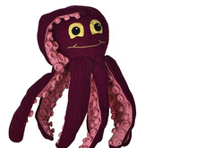 Oki Octopus pdf tutorial by Katja Heinlein crochet pattern amigurumi calamar sepia cuttle sea ocean