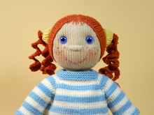 Doll Anni in Autumn Costume, knitting pattern
