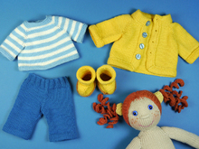 Autumn Set, knitting patterns for doll clothes