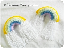 Häkelanleitung Regenbogen PDF ternura amigurumi english- deutsch- dutch